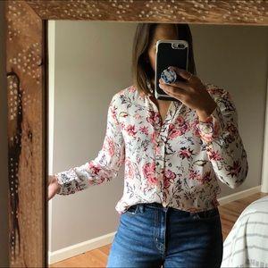 New! Banana Republic Floral Button Dillon Shirt